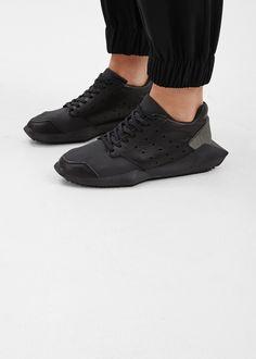 Rick Owens Rick Owens X Adidas Tech Runner Sneaker (Black)