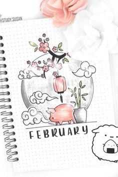 Bullet Journal Monthly Cover Ideas For February 2020 - Crazy Laura - - Changing up your bullet journal theme and need some cover page ideas? These adorable February monthly cover pages will help you get started! February Bullet Journal, Bullet Journal Cover Ideas, Bullet Journal Banner, Bullet Journal Lettering Ideas, Bullet Journal Notebook, Bullet Journal School, Bullet Journal Ideas Pages, Bullet Journal Layout, Journal Covers