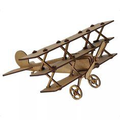 Avião Triplane. Quebra Cabeça 3d. Miniatura Em Mdf - R$ 42,00 no MercadoLivre