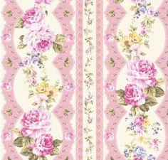 seller has interesting fabrics to check out  Kilala Elegant rose pink stripes fabric 2 yards