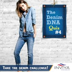 Here's the Denim DNA Challenge for this week When was Blue Jeans invented? 1650 B. 1873 C. 1935 Share your answers in the comment section. Fashion Quiz, New Freedom, Blue Jeans, Challenges, Denim, Fabric, Jackets, Tejido, Tela