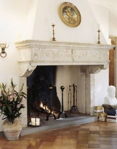 Brunello Cucinelli's italian home. This is a fireplace. Not stating the obvious, I'm saying THIS is a fireplace. Home Fireplace, Fireplace Design, Brick Fireplace, Fireplace Mantels, Rustic Italian, Italian Villa, Rustic French, Italian Style, Tuscan Design