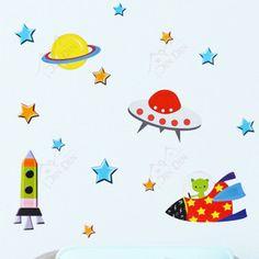 bambino cartoon adesivi parete adesivi murali bambino reale adesivi murali a parete bambino adesivi spazio ld1138