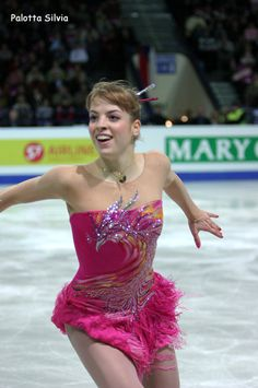 Carolina Kostner dresses -Pink Figure Skating / Ice Skating dress inspiration for Sk8 Gr8 Designs.