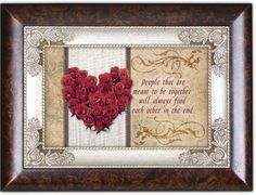 People That Are Red Roses Heart Love Burlwood Italian Inspired Music Jewelry Box Plays Can You Feel the Love Tonight -- Continue to the product at the image link.