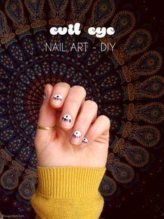 Evil Eye Nail Art   DIY