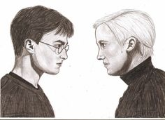 Daniel Radcliffe as Harry Potter and Tom Felton as Draco Malfoy. Harry Potter and Draco Malfoy Draco Harry Potter, Draco Malfoy, Harry Potter Drawings, Welcome To Hogwarts, Tom Felton, Lip Art, Slytherin, Painting & Drawing, Character Inspiration