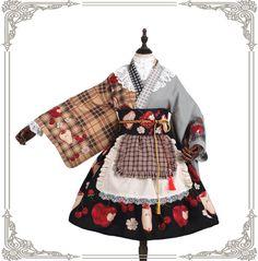 Grove Deer -The Poisonous Apple- Wa Lolita Haori (Kimono Style Top) Kimono Fashion, Lolita Fashion, Cute Fashion, Fashion Outfits, India Fashion, Asian Fashion, Pretty Outfits, Beautiful Outfits, Cool Outfits