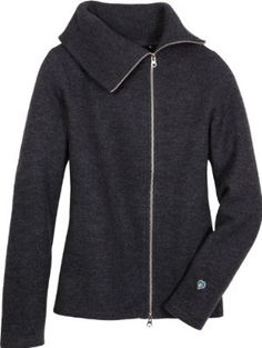 Kuhl Prague Wool Sweater, Dark Heather, M (8) by Kuhl. $109.94. Two-way separating YKK zipper offers endless style opportunities. Extra wide ribbed collar can be worn flat or zipped high for added warmth. 100% single plated boiled merino wool for a warm, soft sweater. cotton. Off center zip adds to the chic look.. A sophisticated style reminiscent of the Stylish Thirties: Rich fabrics, the return of the female form, and the zipper becomes fashionable.