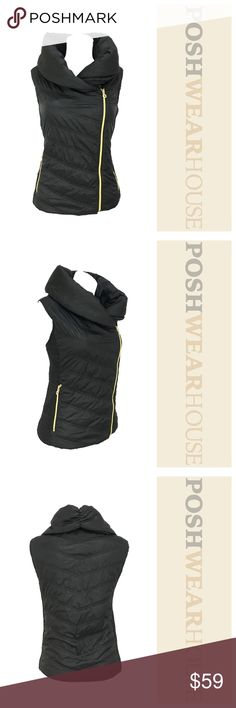 MARC NEW YORK Black Asymmetric Puffer Vest Stunning 3 Season Vest • Front Zip Closure • Polyester • Polyester Filling • Machine was Cold, Tumble Dry Andrew Marc Jackets & Coats Vests