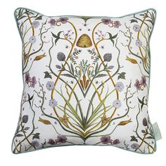 The Chateau By Angel Strawbridge Potagerie Piped Cushion, 43 Linen, French Country Decorating, Wallpaper, Angel Strawbridge, Linen Cushion, Old Wallpaper, Angel Adoree, Art Deco Design, Cream Cushions