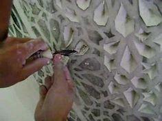 ART OF PATTERNING ON GYPSUM / Guemar / فن النقش على الجبس - YouTube