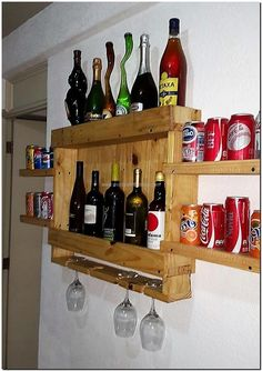 wooden pallet wall bar