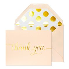 "Everyone needs ""Thank You"" notes for this time of year, so why not gift these glitzy cards from Sugar Paper?"