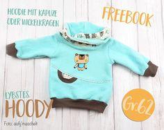 """Baby-Kapuzenpullover selber nähen! Freebook für den """"Hoody"""" in Gr. 62"""