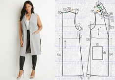 47 Ideas for sewing patterns free cardigan tutorials Easy Sewing Patterns, Sewing Tutorials, Clothing Patterns, Dress Patterns, Sewing Tips, Fashion Sewing, Diy Fashion, Fashion Top, Fashion Online