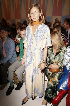 Olivia Palermo - Fendi Spring/Summer 2018 Ready-To-Wear Front-Row - September 21, 2017 #mfwss18
