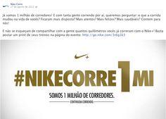 Peça: post Facebook  Projeto: Nike Corre  Cliente: Nike  Ano: 2012 Agência: LiveAD