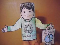 Earth Day Toilet Paper Tube Puppets -  Pinned by @PediaStaff – Please Visit http://ht.ly/63sNt for all our pediatric therapy pins