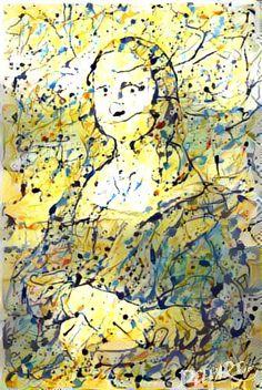 Mona Lisa via Jackson Pollock 2