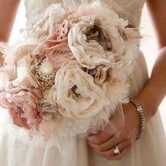 Romantic Fabric Flowers Bouquet