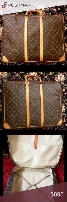 Authentic Louis Vuitton Sirius 55 Soft Suitcase This is an authentic Louis Vuitton monogram Sirius 55 soft suitcase. Clean inside and out. This bag will easily hold a long weekend's worth of clothes for a trip. There is a lot of life left in this beautiful bag! Measures 24 inches long by 19 inches tall by 6 inches deep Louis Vuitton Bags Travel Bags