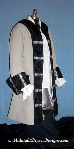 CUSTOM MADE Renaissance Pirate Coat Costume, Frock Coat by midnightbreezedesign on Etsy Renaissance Festival Costumes, Renaissance Pirate, Italian Renaissance, Pirate Garb, Pirate Costumes, 17th Century Clothing, Pirate Wedding, Groomsmen Outfits, Pirate Fashion