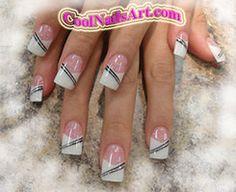 Nail Design Stripe Me Up Baby by ~thientu83 on deviantART