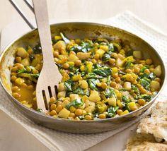 Spiced chickpea & potato fry-up recipe - Recipes - BBC Good Food