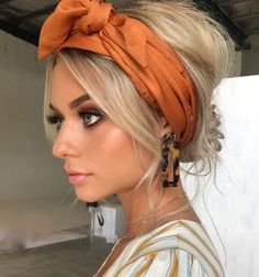 hair scarf styles, headband hairstyles, scarf hairstyles, headband hairstyles, h… - All For Simple Hair Curly Hair Styles, Hair Scarf Styles, Scarf In Hair, Hair Scarfs, Hair Styles Headband, Headband Hairstyles, Cute Hairstyles, Wedding Hairstyles, Halloween Hairstyles