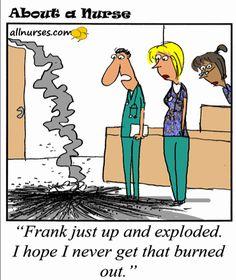 Cartoon: Burned out nurse - About A Nurse - Nursing Cartoon Series