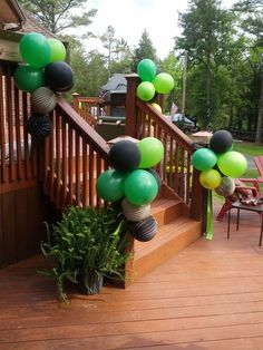 Minecraft Birthday Balloon Decor
