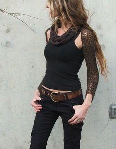 etsy (via Felted tweed merino winter long sleeved shrug in a dark chocolate bro…)