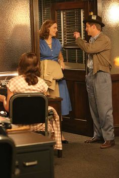 Emily Deschanel and Michael Grant Terry have a laugh behind the scenes in the 200th episode of Bones!