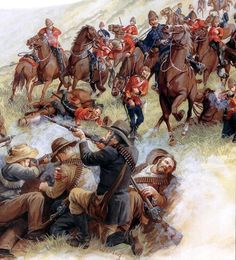 Battle of Laing's Nek was a major battle fought at Laing's Nek during the First Boer War on 28 January 1881 Uk History, African History, World History, Military Art, Military History, The Devil's Own, British Army Uniform, Ww2 Posters, British Colonial