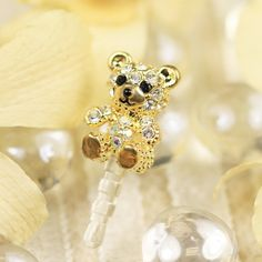Mobile Phone Accessories Dust Plug 1x 3d Dust-proof Plug In The Shape Of A Cute Cat Crystal Diamond Luxurious 3.5mm Earphone Plug Dust Cap Pink Earphone Plug-hot