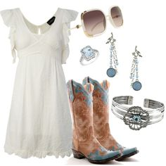 I love this dress....even digging the boots! I'm feeling in touch with inner country!!!