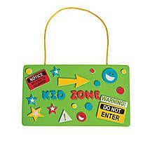 Kid Zone Door Sign Craft Kit - 13643125