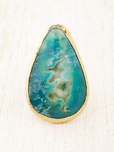 Wave Druzy Ring by Free People
