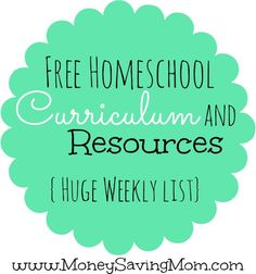 Click through for a HUGE list of free homeschool curriculum and resources!
