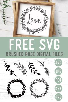Free svg files for cricut. Botanical leaves and wreath free files for all cricut and silhouette crafts. Cricut Svg Files Free, Cricut Fonts, Vinyle Cricut, Cricut Craft Room, Cricut Creations, Deco, Illustration, Free Monogram, Monogram Fonts