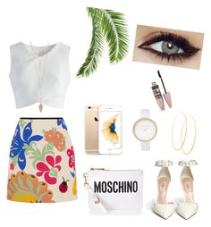 """""""summer one"""" by talita-peres on Polyvore featuring Victoria, Victoria Beckham, Chicwish, Moschino, River Island, Lana and Maybelline"""