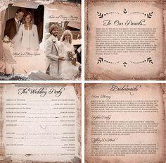 30 Creative Wedding Program Design Ideas