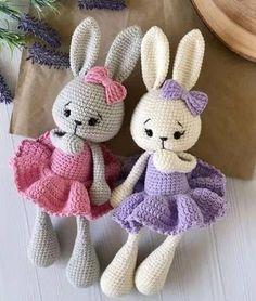 Crochet Rabbit Free Pattern, Easter Crochet Patterns, Crochet Bunny Pattern, Crochet Amigurumi Free Patterns, Crochet Teddy, Crochet Tutorial, Crochet Projects, Christmas Elf, Knitting