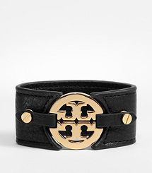 Logo Wide Double Snap Cuff | Tory Burch