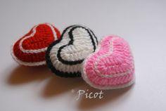 Picot - Szydełkowe Inspiracje: Serca szydełkowe