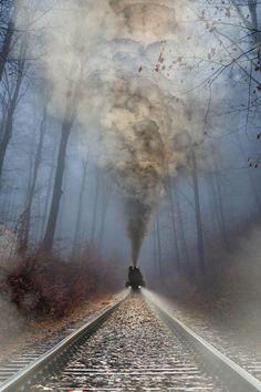 Enlace permanente de imagen incrustada Motor A Vapor, Train Art, Old Trains, Train Pictures, Train Tracks, World Of Color, Photos Of The Week, Amazing Nature, Railroad Tracks