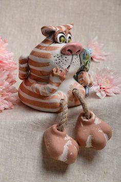Weiteres - Handgemachte Keramik Spardose aus Ton Katze - ein Designerstück von Umweltfreundliches-Design bei DaWanda