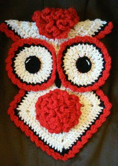 Check out this item in my Etsy shop https://www.etsy.com/listing/229256645/crochet-january-carnation-owl-potholder