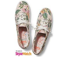 See Keds Shoes for women! Find canvas shoes and tennis shoes on the Official Keds Site. Choose colors and sizes as you browse our full collection of Keds women's shoes. Keds Sneakers, Floral Sneakers, Keds Shoes, Canvas Sneakers, Champion Sneakers, Keds Champion, Rifle Paper Co, Lace Up Shoes, My Style